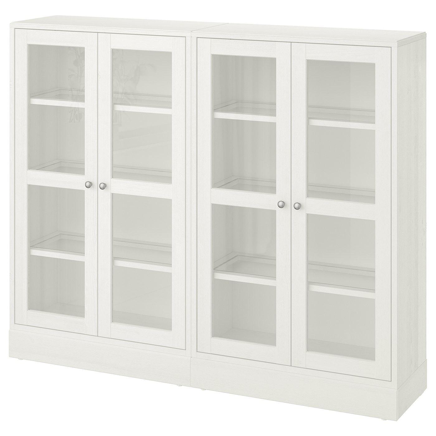 Porte Laque Blanc Ikea havsta storage combination w/glass doors - white | ikea