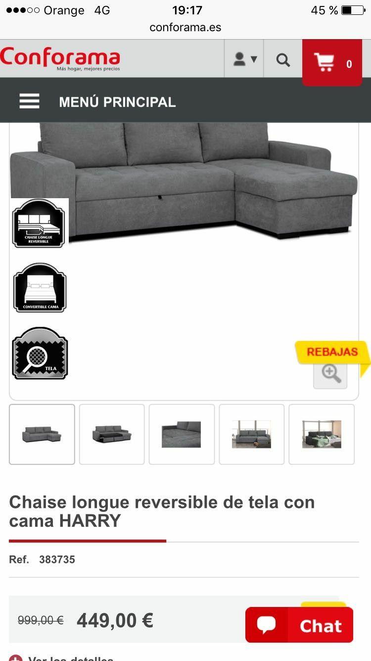 Sofa Conforama Gris Tela Sofa Cama Chaise Longe Nappali