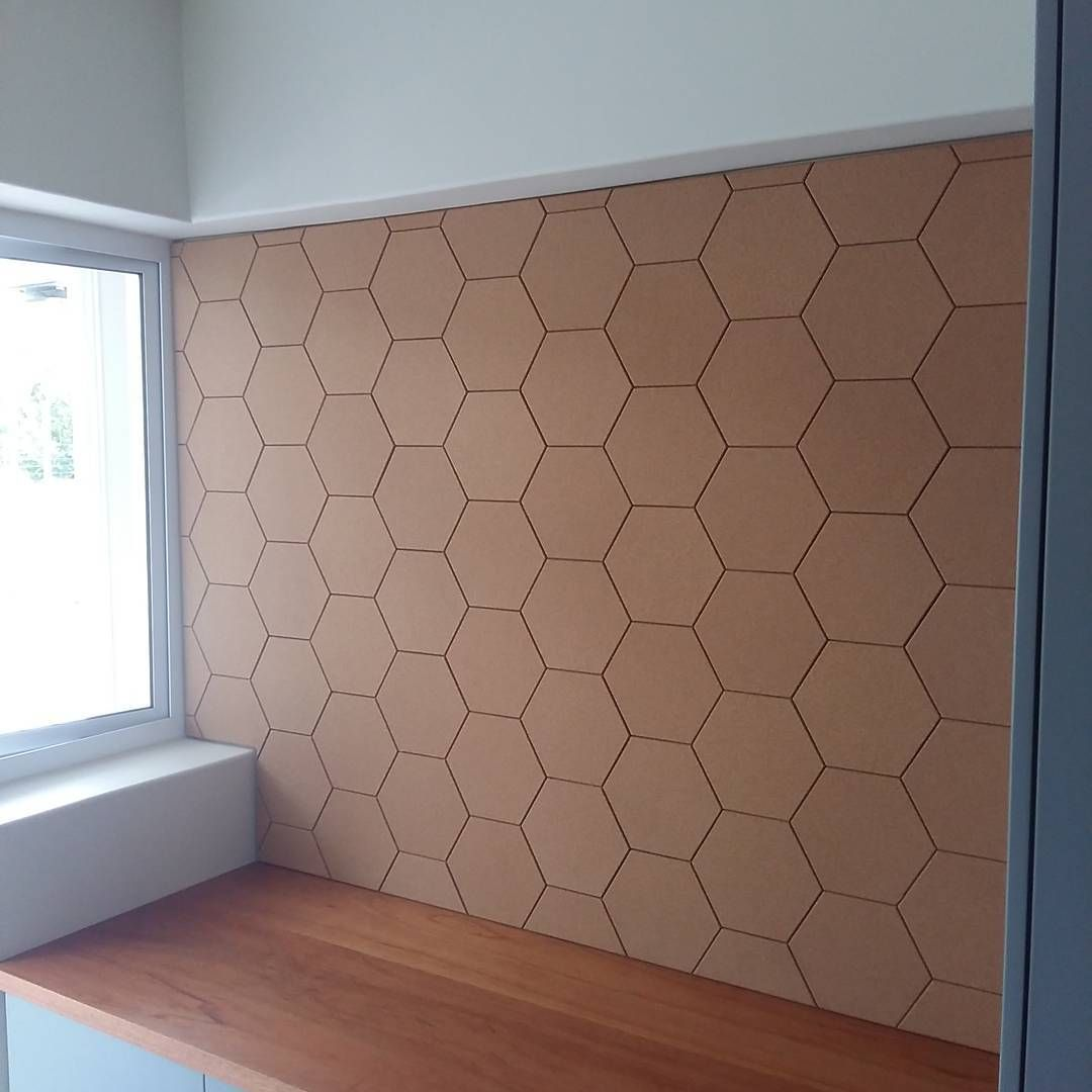 We Also Install Its True This Is The Hexagon Pin Board That Grant Made Getcork Cork Corkboard Ideasboard Visionboard Memoryboard New Homes House Home