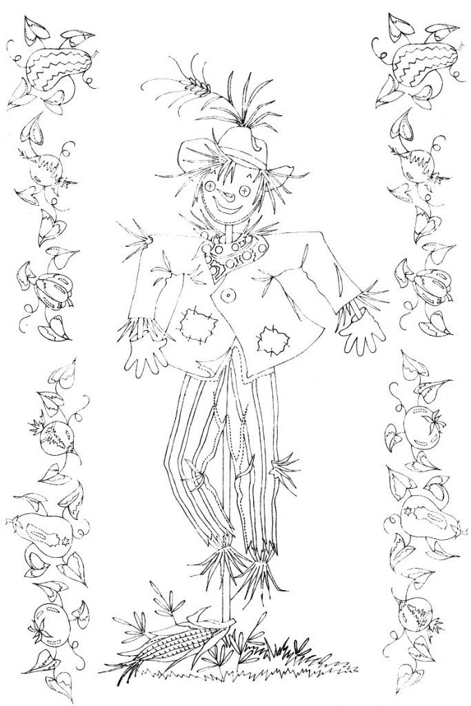 scarecrow free vintage embroidery patterns at q is for quilter - Halloween Hand Embroidery Patterns