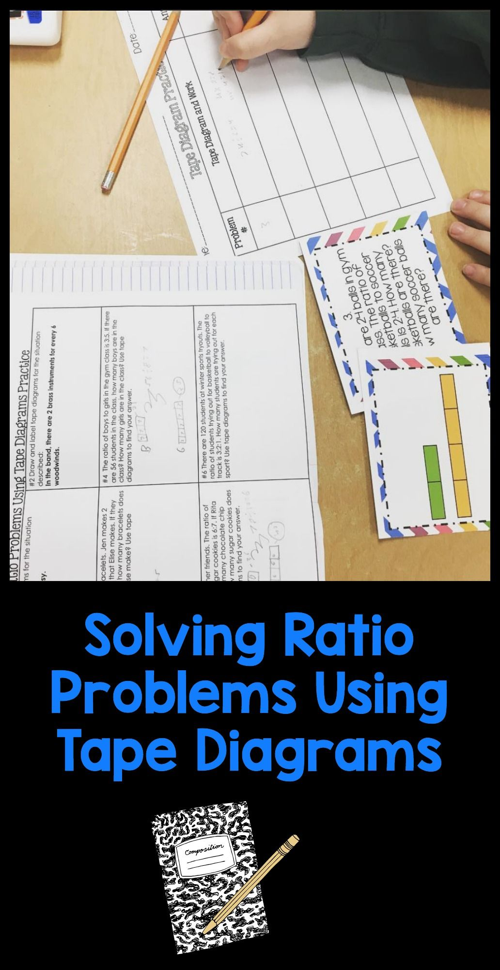 small resolution of solving ratio problems using tape diagrams