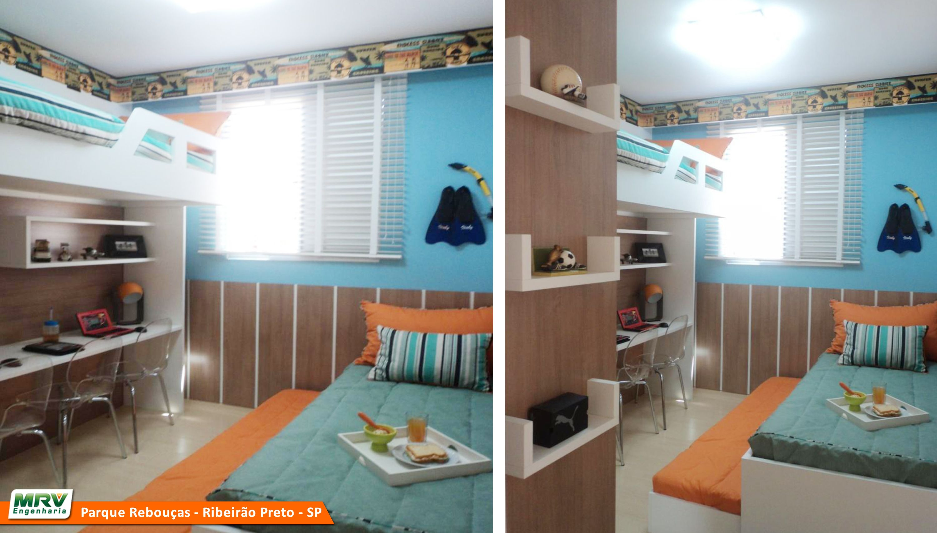 Apartamento decorado 2 dormit rios do parque rebou as no for Cuartos decorados