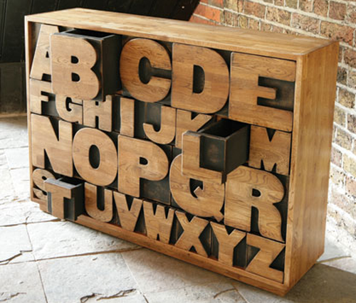 alphabet drawer by kent and london