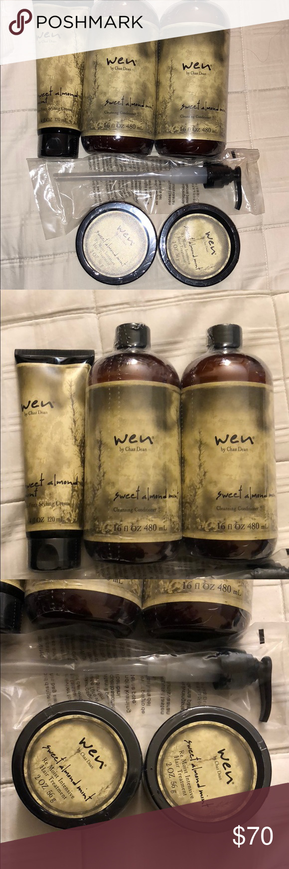 Brand new Wen hair care set 2 sweet almond mint flavored