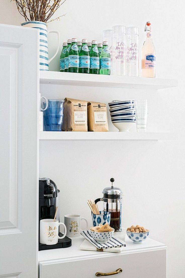 Take Your Mornings From Exhausted To Energized With A Dream Coffee Bar Coffee Bar Home Home Style Me Pretty Living