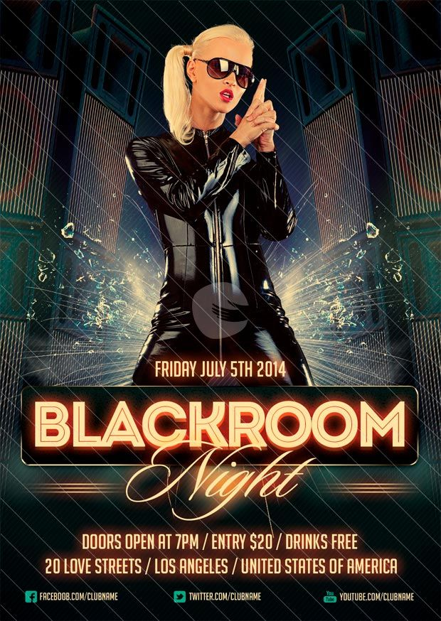 Free Flyer Blackroom Party Flyer Template -    www - harmony flyer template
