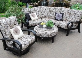 Aluminum Patio Furniture By Mallin Eclipse Deep Seating Lounge