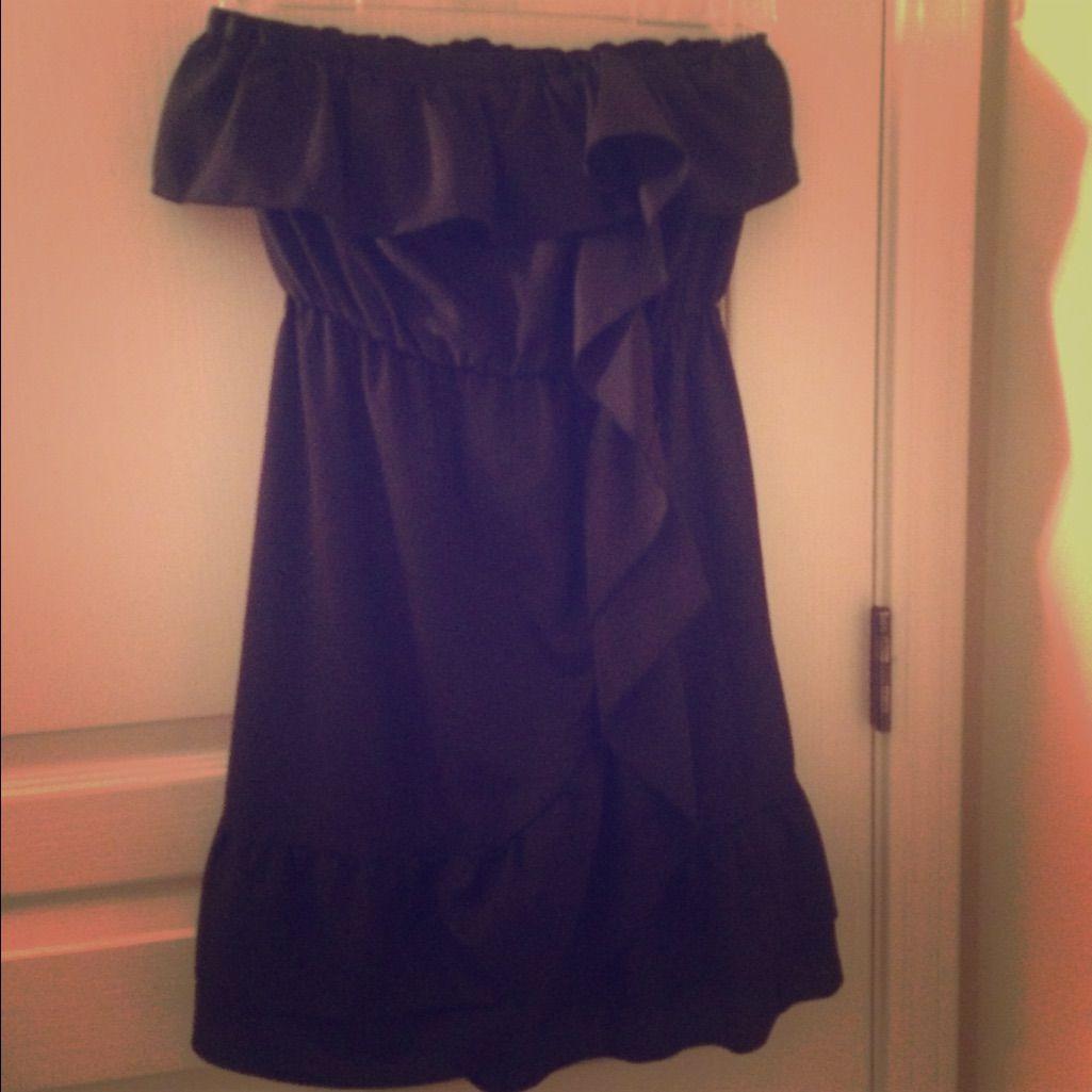 Black ruffle dress products