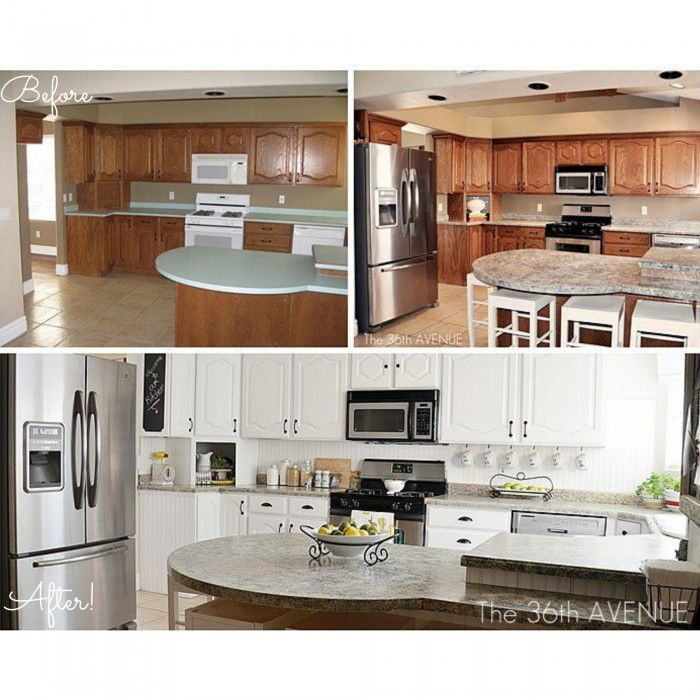 Before And After Kitchen Makeover Giani Stone Paints For Your