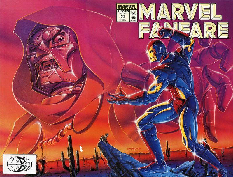 Marvel Fanfare #44 (1982 series) - cover by Ken Steacy