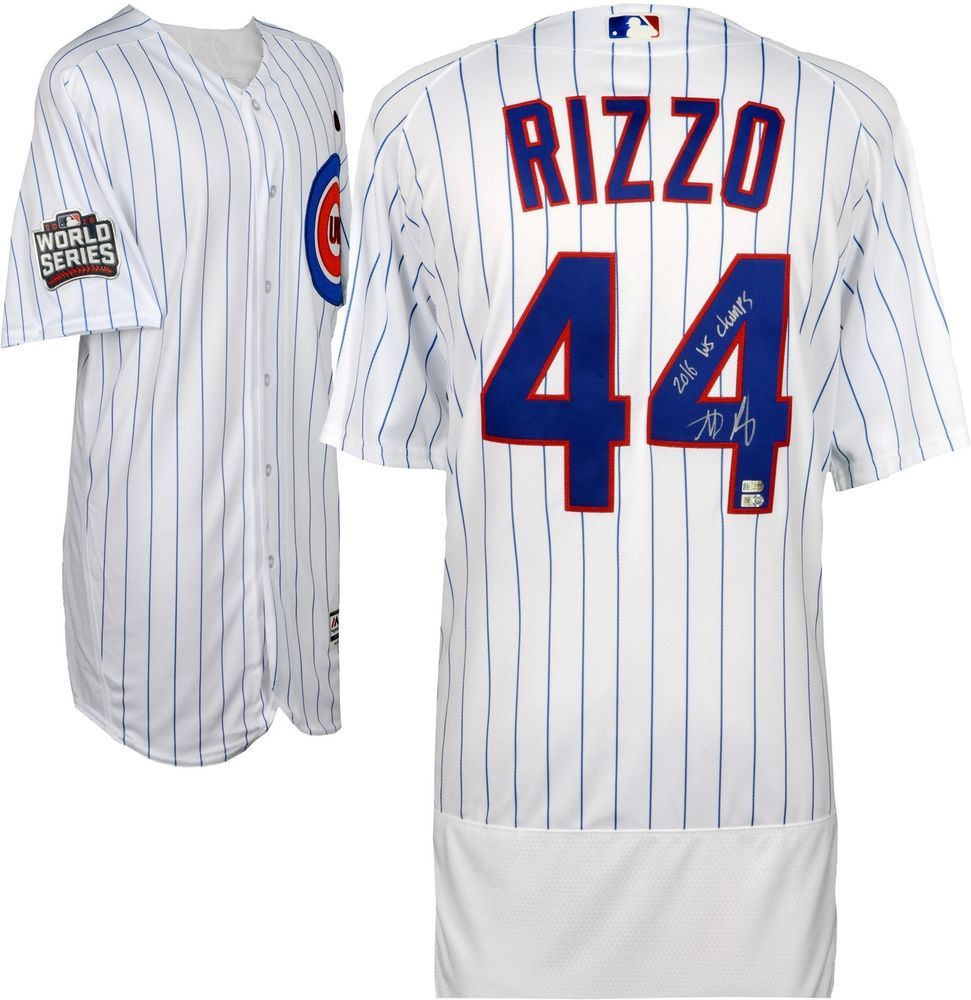 official photos d7947 dacf0 Anthony Rizzo Cubs '16 MLB WS Champs Signed Authentic WS ...