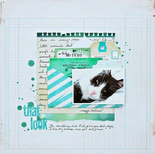 #papercraft #scrapbook #layout via TwoPeasInABucket.com