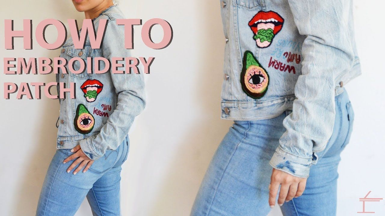 HOW TO HAND MAKE AN EMBROIDERY PATCH Embroidery patches