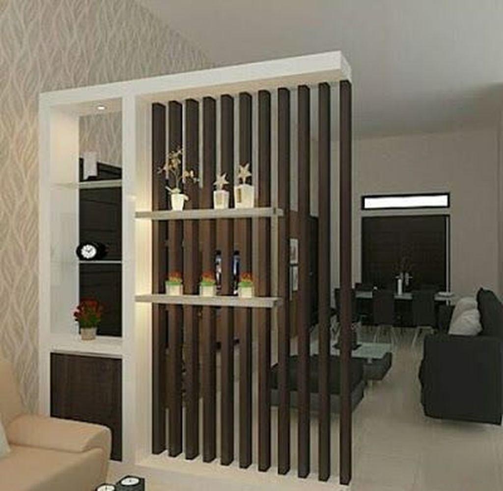 33 Lovely Modern Living Room Wall Decoration Ideas Ruang Tamu Rumah Ide Dekorasi Rumah Desain Interior Living room separator outstanding