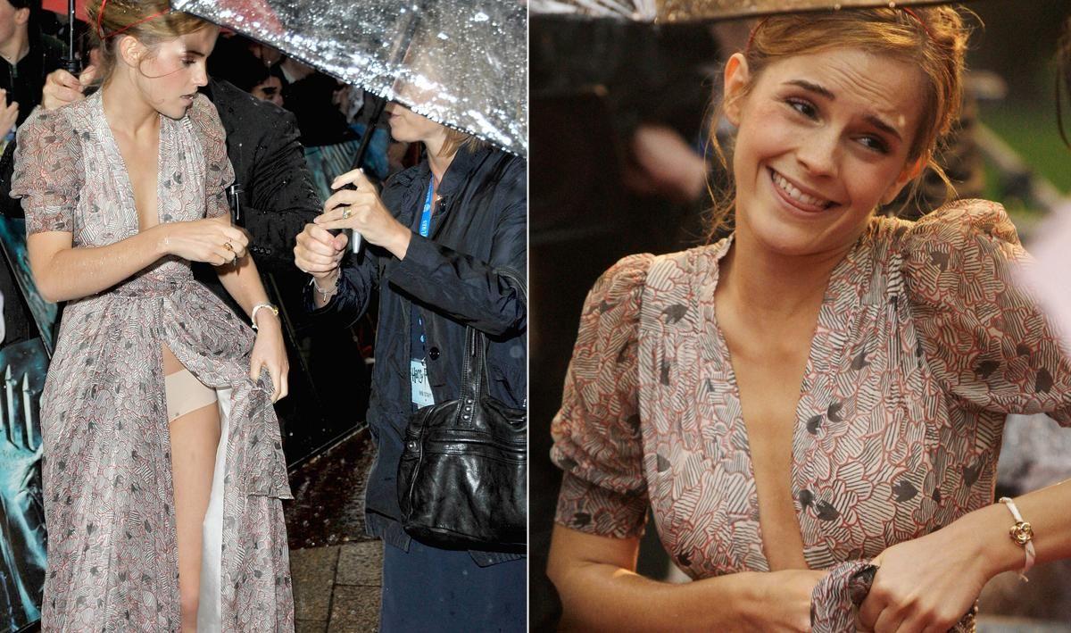 Emma Watson suffers a wardrobe malfunction as her backless dress 60