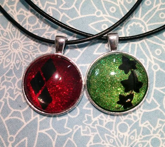 Harley Quinn and Poison Ivy Nail Polish Necklace Set by SolSparks