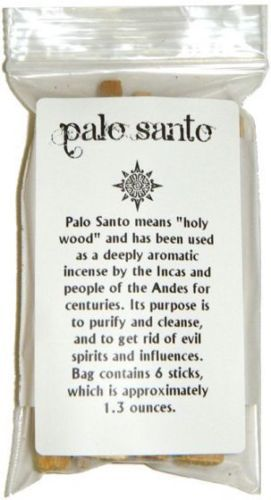 Details About 6 Stick Lot Of Palo Santo Wood Incense