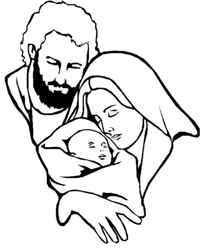 jesus family very happy coloring for kids christmas coloring pages kidsdrawing free coloring pages online - Mary Baby Jesus Coloring Page