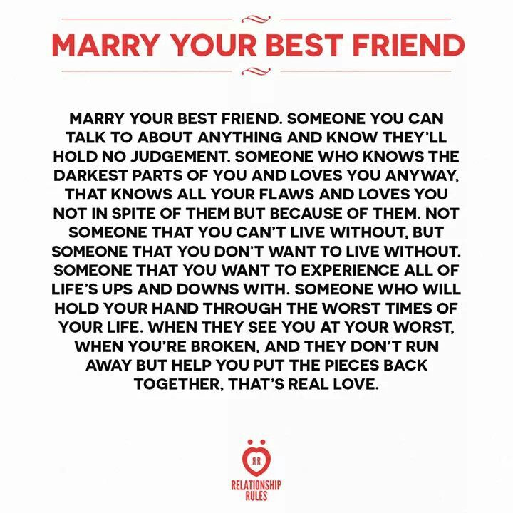 Marry Your Best Friend Relationship Memes Marry Your Best Friend