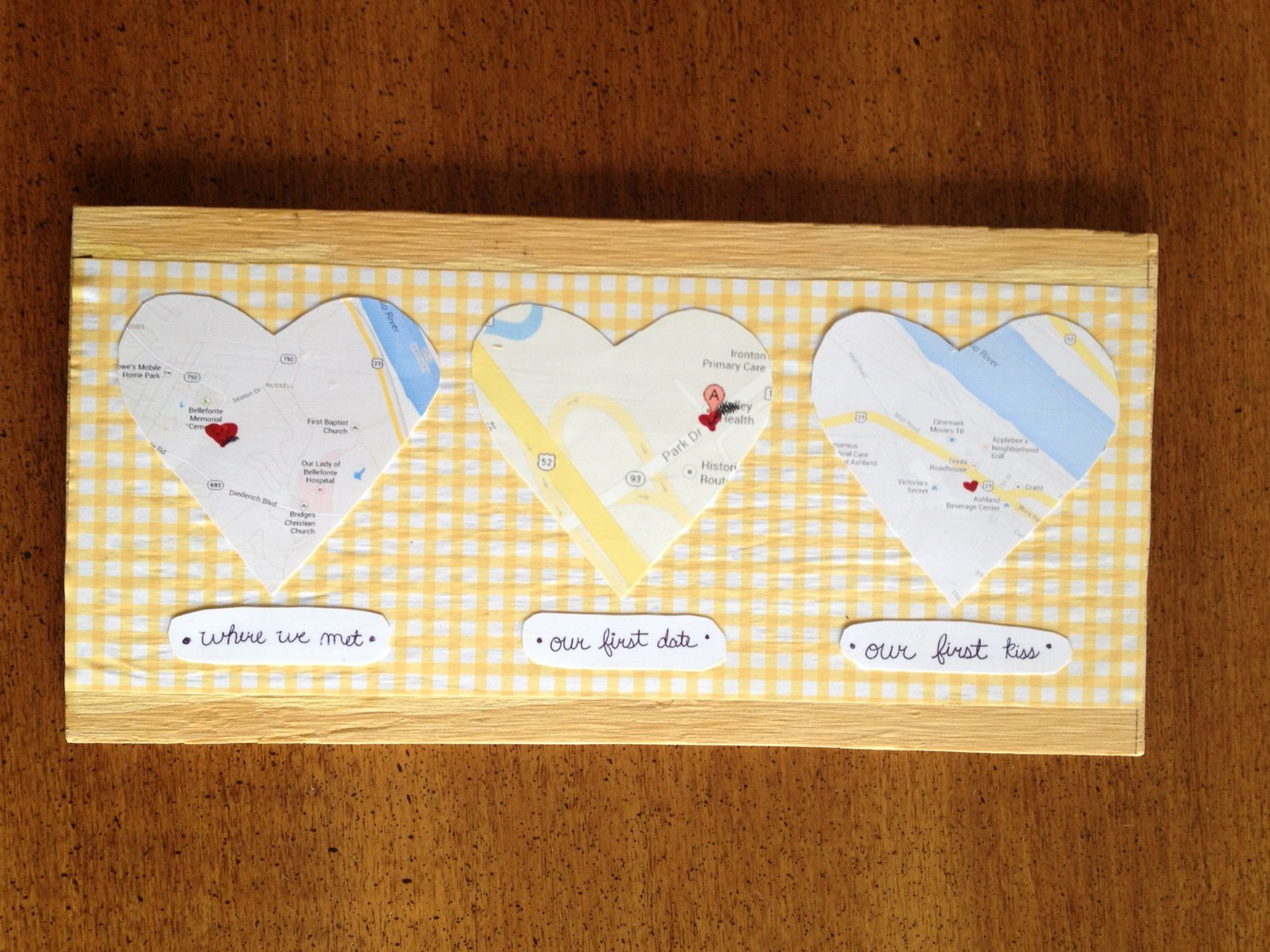 Just made this for andrew for our little anniversary : #diy #gift