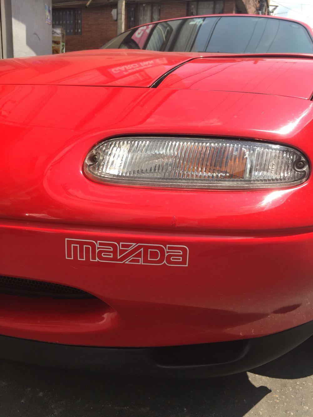 Original bumper 1991 mazda miata sticker decal