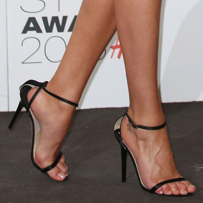 3444deb52d00 Rosie Huntington-Whiteley in Jimmy Choo  Minny  sandals   Jimmy Choo ...