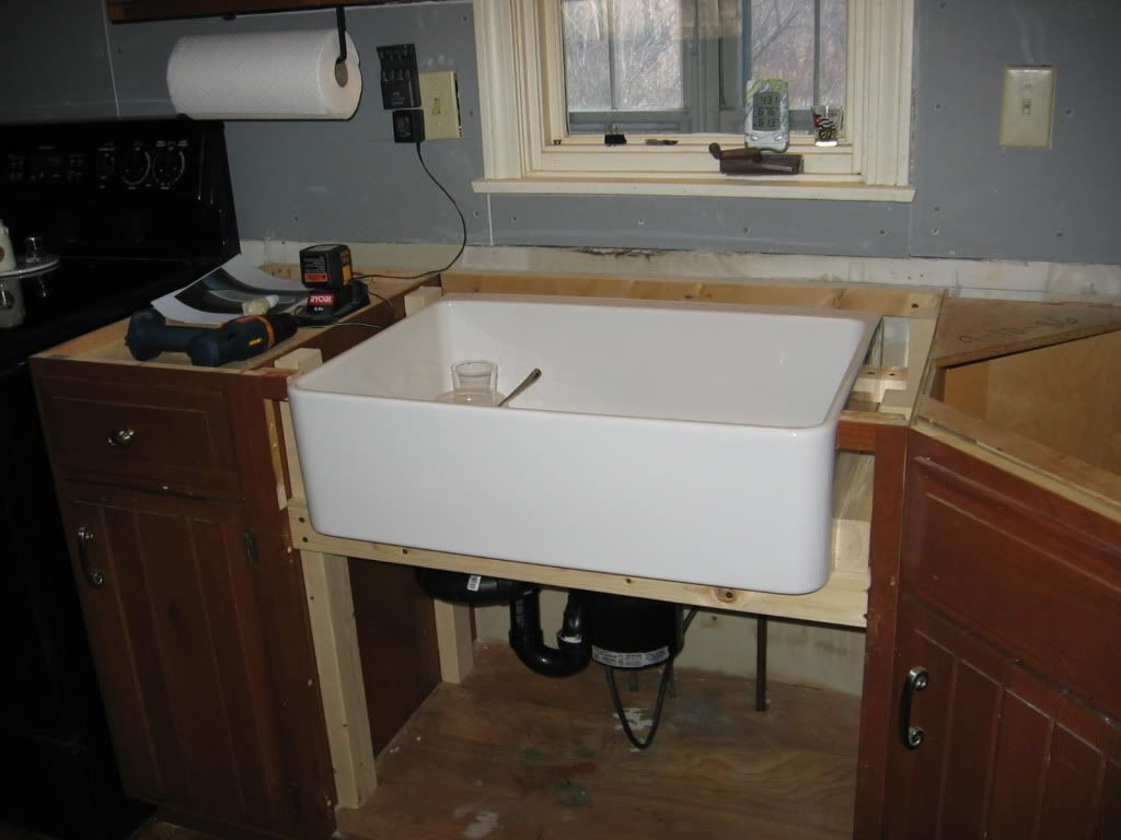 Modifying Standard Cabinetry To Accommodate An Apron Front Farmhouse Sink Farmhouse Sink Kitchen Ikea Farmhouse Sink Ikea Farm Sink