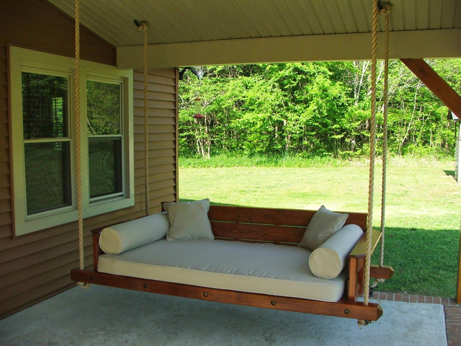 Veranda Schaukel Outdoor Swing Bed Plans | Porch Swing Bed, Diy Porch Swing