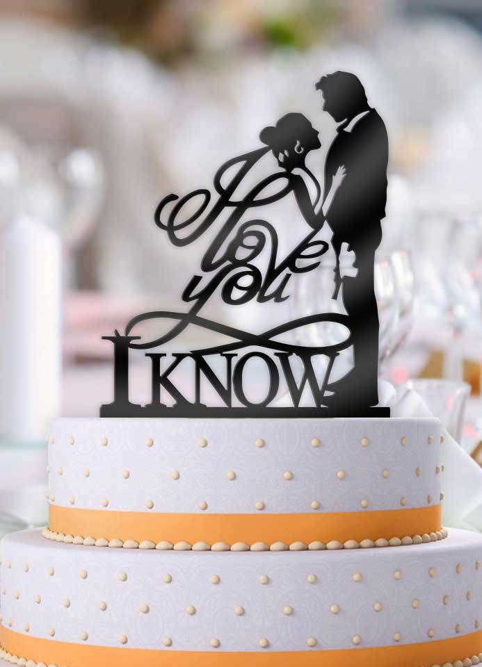 Star Wars Han And Leia I Love You I Know Pt 2 Cake Topper Star