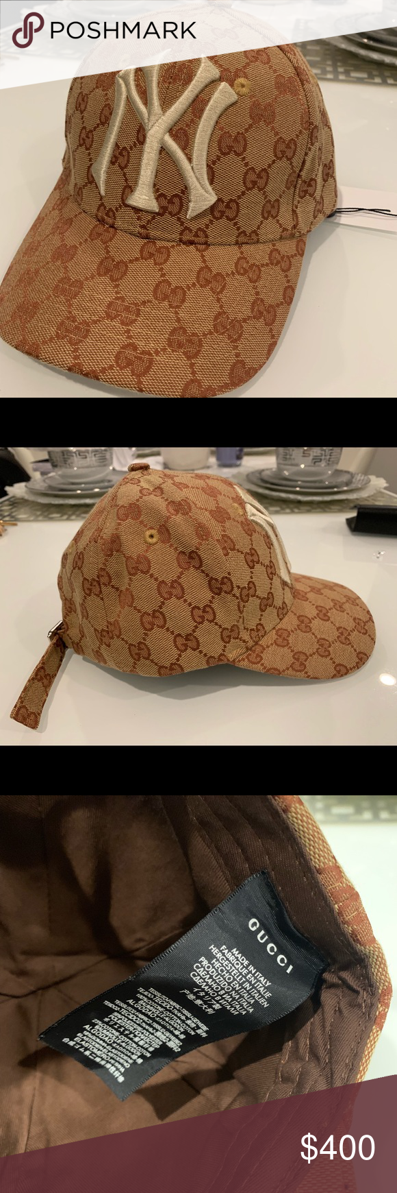 5537fce9 Gucci NY Yankees Baseball Cap Never worn, new style Gucci hat. One ...