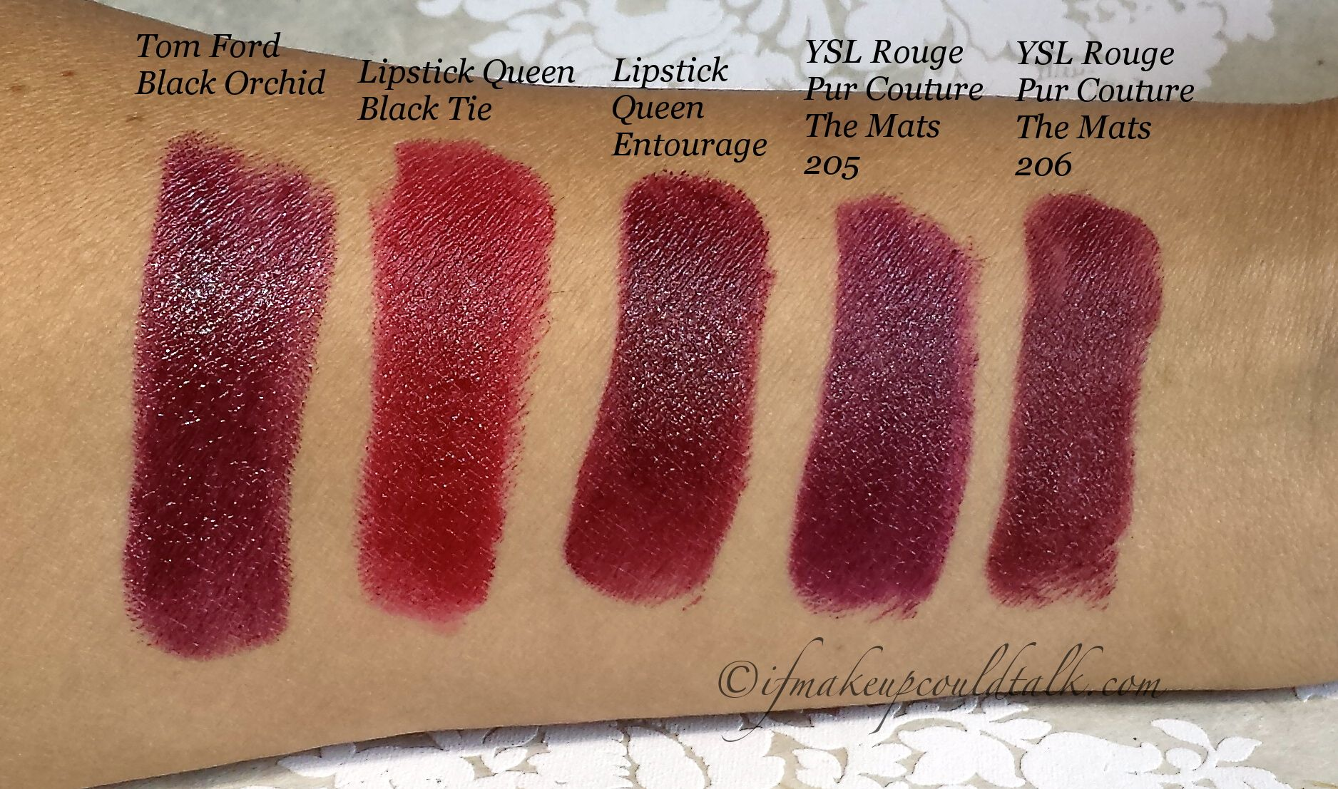 Dark Red Lipstick Comparisons Tom Ford Black Orchid