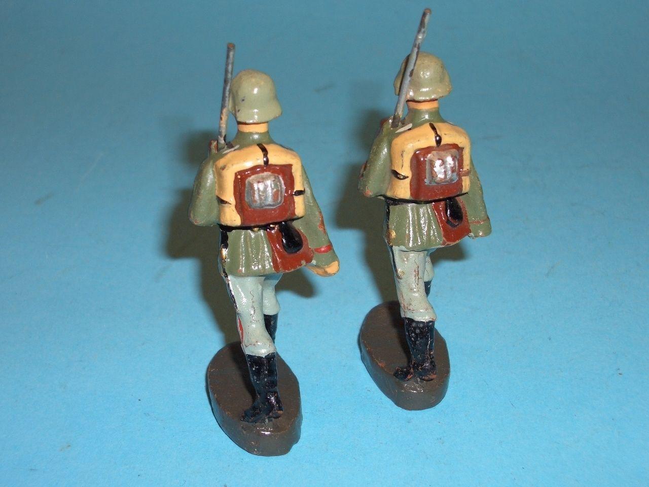 2628 - Elastolin Soldaten im Marsch 7,5cm Serie 2 Stück | eBay