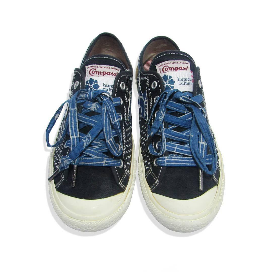 Indonesian Local Sneakers Compass Gazelle Low Custom Sashiko By Human Culture Retro Sneakers Custom Shoes Sashiko
