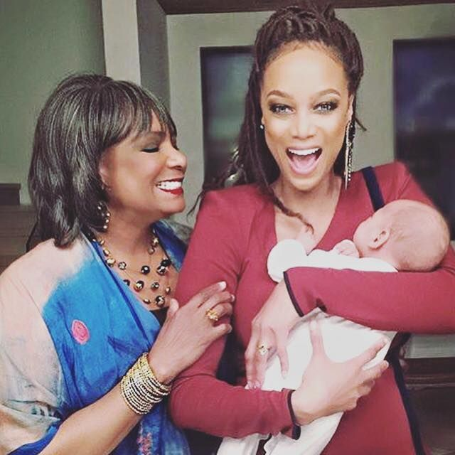 Tyra Banks And Son: Tyra Banks Her Beautiful Mother, And Baby.