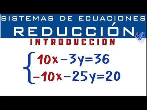 Sistemas De Ecuaciones Lineales 2x2 Método De Reducción Eliminación Introducción Youtube Sistemas De Ecuaciones Lecciones De Matemáticas Ecuaciones