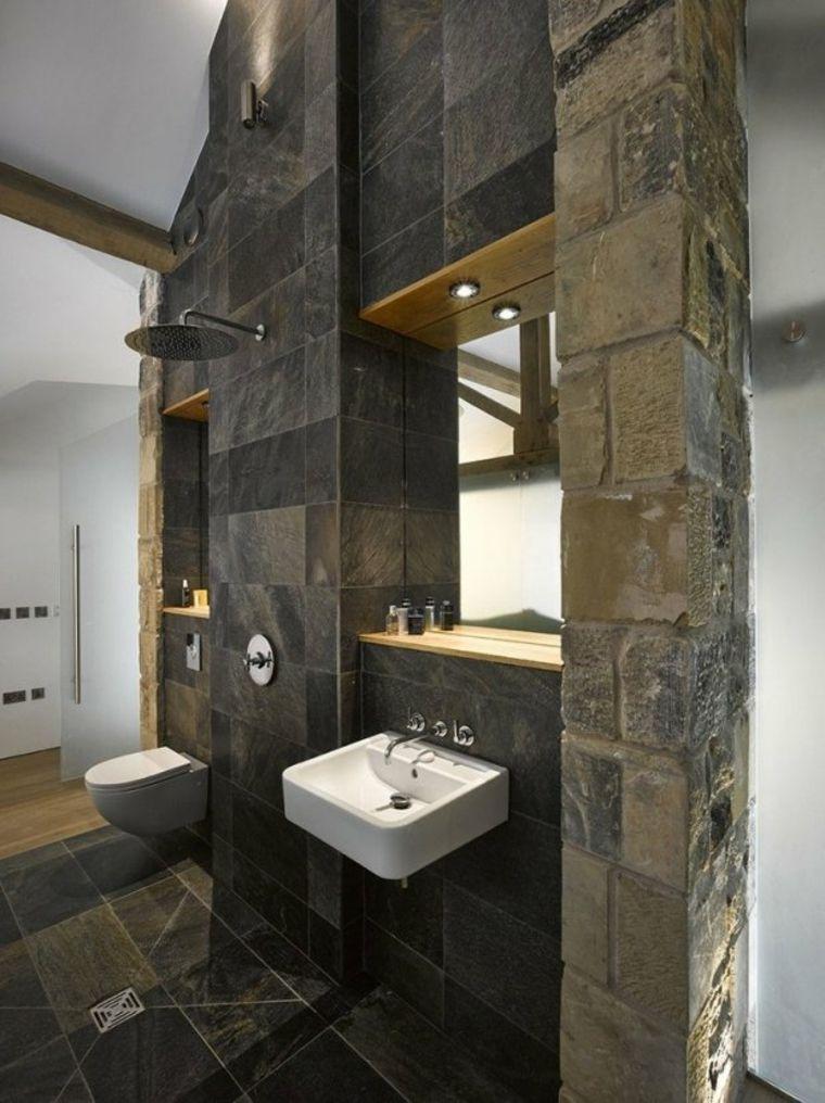 Salle de bain avec douche italienne  naturelle et relaxante - salle de bains avec douche italienne