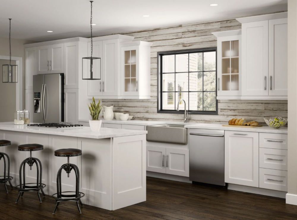 Newport Wall in Pacific White Kitchen The