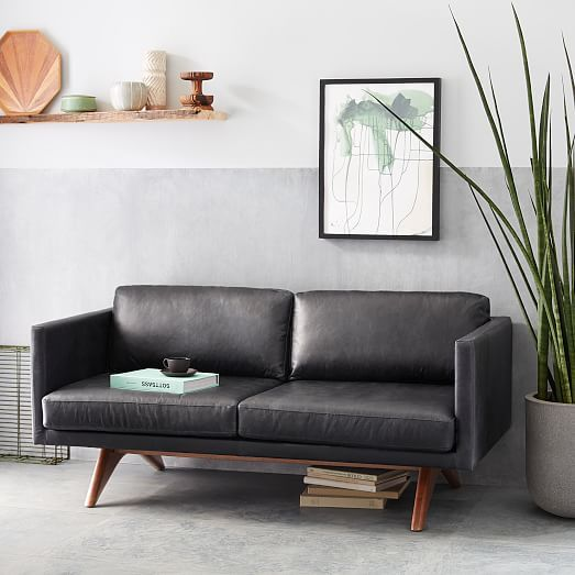 "Brooklyn Down-Filled Leather Sofa (81"")"