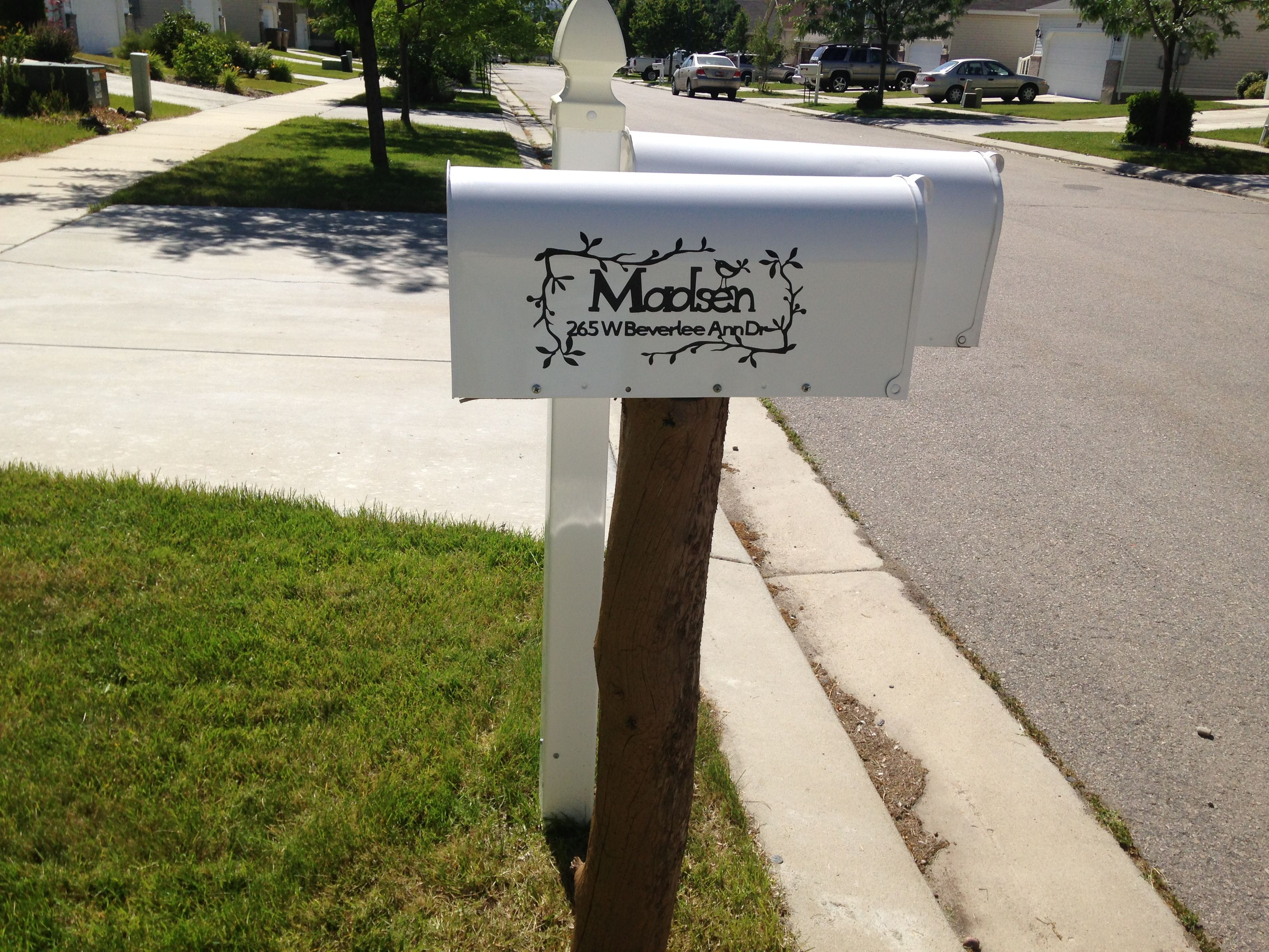 Vinyl Mailbox Letters With Images Mailbox Outdoor Decor New