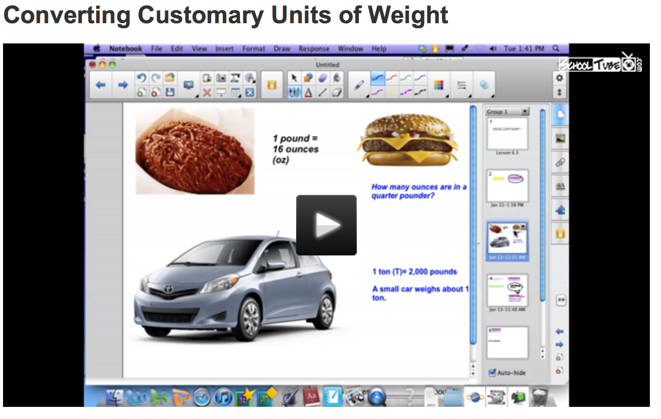 Brief Video Explaining How To Convert Customary Units Of