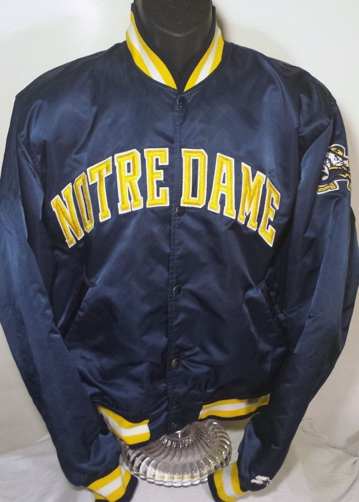 Vintage Notre Dame Fighting Irish Football Mens Size Large Satin Starter  Jacket  Starter  NotreDameFightingIrish 95be18fa2