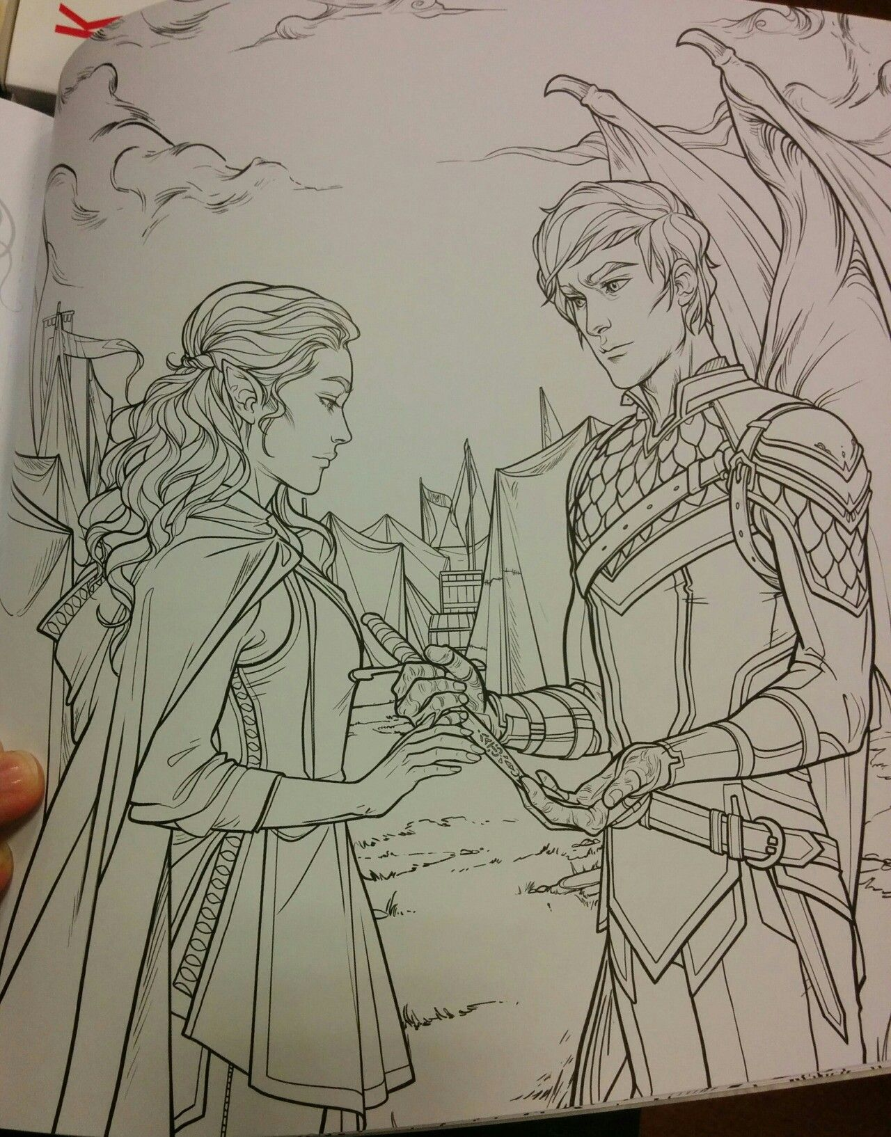 A Court Of Thorns and Roses Coloring