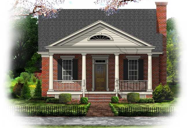 Small Greek Revival House Plans Image of Local Worship