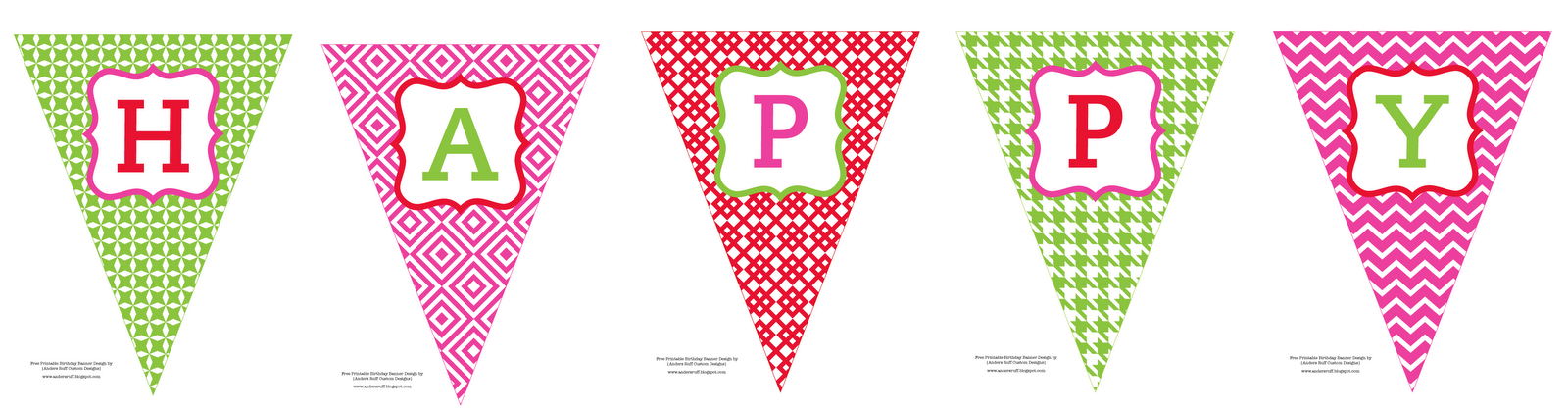 printable happy birthday banner template