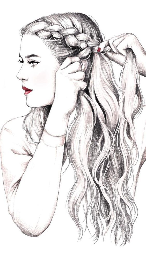 Girls Hair Drawing Visit My Youtube Channel To Learn Drawing And