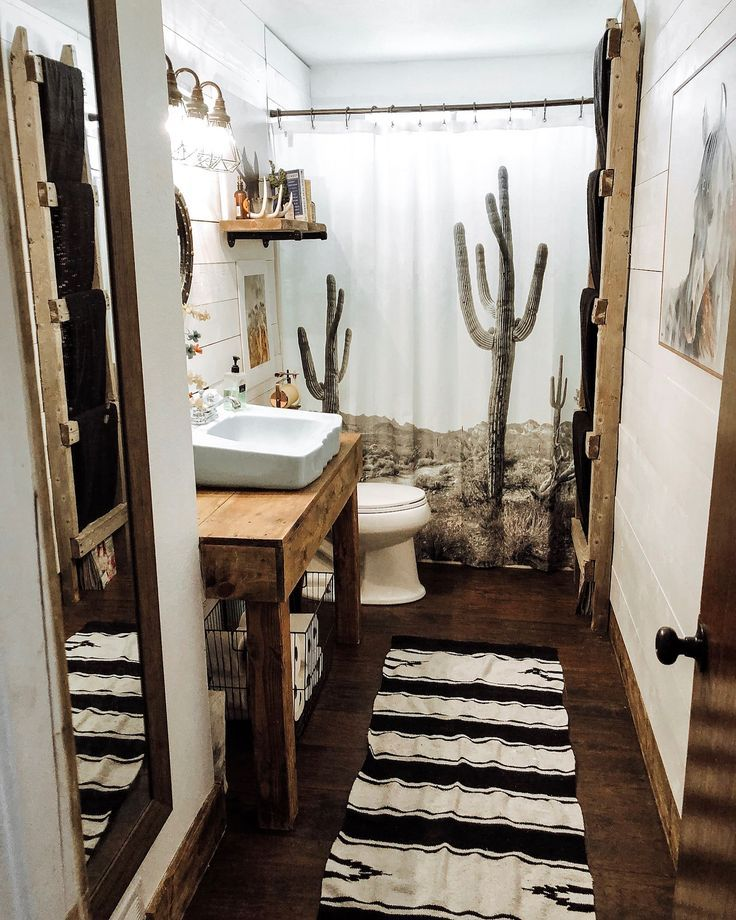 Rustic Apartment Bathroom