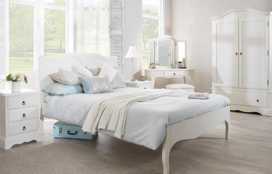 Vintage Modern White Bedroom Furniture