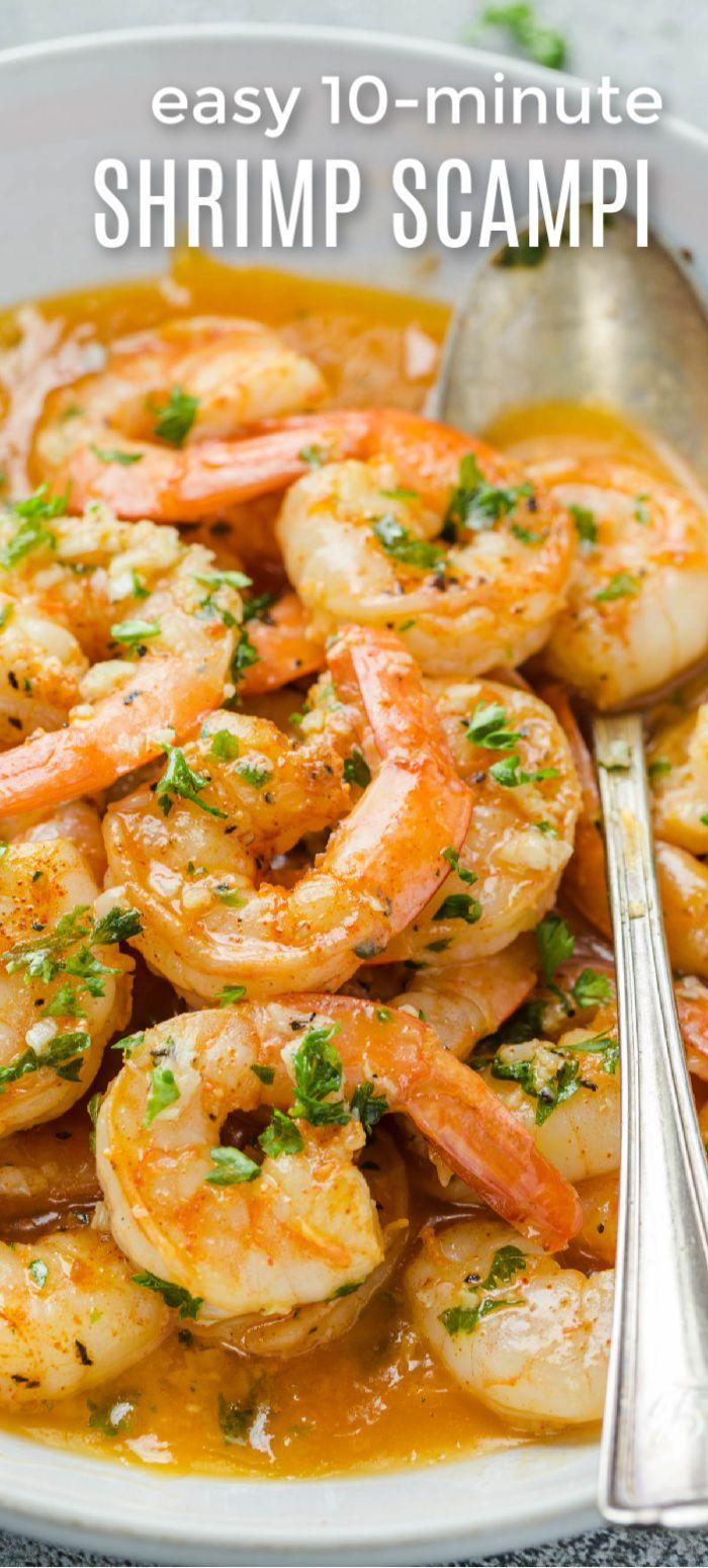 Easy Shrimp Scampi Recipe #shrimpscampi