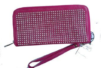 $48.99 Amazon.com: NEW IN HOT PINK!! Our #1 BESTSELLER BLING DOUBLE SIDED WALLET/WRISTLET w/ziptop by Jersey Bling: Clothing