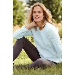 Photo of Striped Chenille Sweater in Petite Size – Green – 44-46 from Lands 'End Lands' End